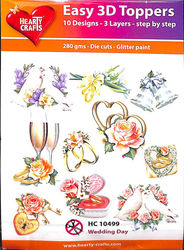 Hearty Crafts Easy 3D Toppers Wedding Day HC10499 (Locatie: 5R)