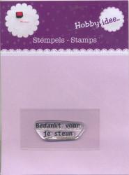 Hobby Idee Clear Stamp Bedankt voor je steun HI-STAMP-0006 (Locatie: NN281)