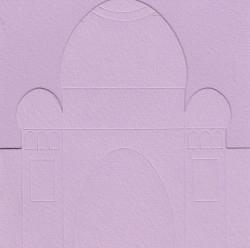 Ilses tempel, 3x kaart, 3x envelop lila nr. 21024/4 (Locatie: OO034 )