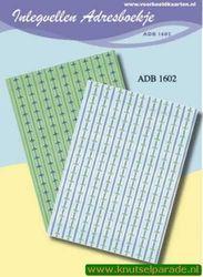 Inlegvellen adresboekje ADB 1602 (Locatie: D38 )