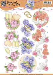 Jeanine's Art knipvel huwelijk CD10980 (Locatie: 2557)