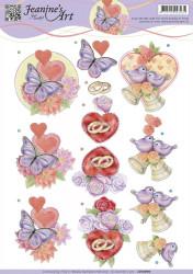 Jeanine's Art knipvel huwelijk CD10990 (Locatie: 0507)