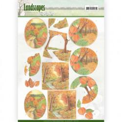 Jeanine's Art knipvel landschap herfst CD11172 (Locatie: 4631)