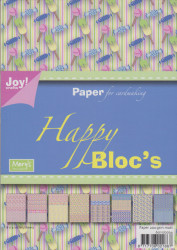 Joy Crafts papierblok A5 happy sweet 6011 0034 (Let op: licht beschadigd)