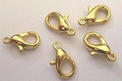 Karabiner goudkleur 12 mm 5 stuks 11808-1232 (Locatie: K3)
