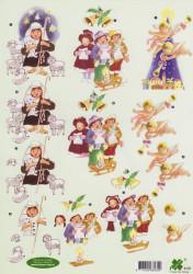 Klaver-vier knipvel kerstmis 4129 (Locatie: 4615)