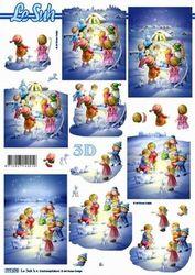 Le Suh knipvel Kerst kinderen in de sneeuw 777570 (Locatie: 5560)