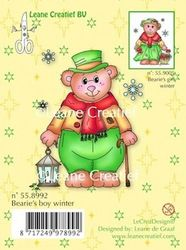 Leane Creatief Clear stamp Bearie's boy winter 558992 (Locatie: E323 )