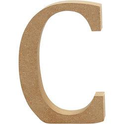 Letter C, hoogte 13 cm, dikte 2 cm, MDF, 1stuk (Locatie: KB)