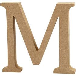 Letter M, hoogte 13 cm, dikte 2 cm, MDF, 1stuk (Locatie: KB)