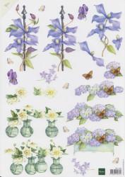 Marianne design knipvel bloemen MB0096 (Locatie: 4729)