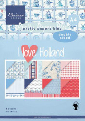 Marianne Design Paperpad I love Holland A4 PK9168 (Locatie: S2)