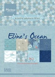Marianne Design Pretty Papers Bloc Eline's ocean A5 PB7052