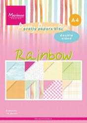 Marianne Design Pretty Papers Bloc Rainbow A4 PK9175