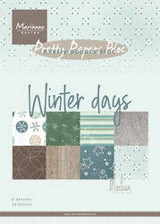 Marianne Design Pretty Papers Bloc Winter Days A5 PK9164 (Locatie: S2)