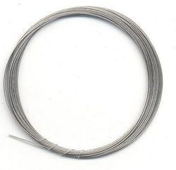 Metaaldraad nylon coating zilverkleur 0.4 mm x 4 mtr 10829-4001 (Locatie: K3)