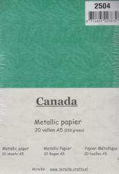 Mireille Metallic Papier A5, groen , 20 vellen (Locatie: q033)