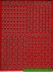 Multi dots sticker holografisch rood kerst (Locatie: 4549)