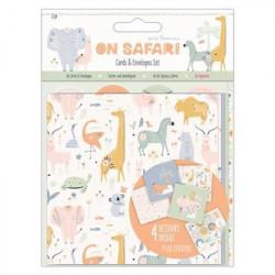 Papermania op safari 12 kaarten en enveloppen, pma150215 (Locatie: BB001)