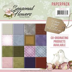 Precious Marieke, Paperpack, 15.2 x 15.2 cm, Seasonal Flowers, PMPP10013
