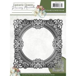Precious Marieke snij- en embosmal Fantastic Flowers - Square Flowers frame PM10090 (Locatie: M057)