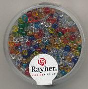 Rayher rocailles 2,6 mm transp. assorti 17 gr. 1405749 (Locatie: K3)