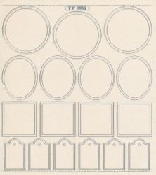 Scrapbookstickers zilver nr. TP 3651 (Locatie: 4537)
