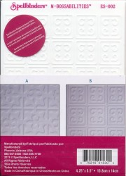 Spellbinders reversible embossing folder 2 designs EL-002 (Locatie: T139)