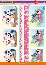 Stansvel 3D uilen verliefd 3 (Locatie: 4239)