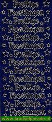 Starform glitter sticker blauw 286 (Locatie: PP125 )
