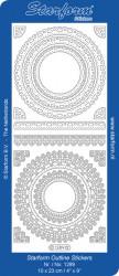 Starform sticker ornamenten zilver 1289 (Locatie: i573)