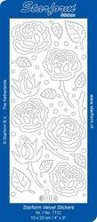 Starform sticker rozen velvet licht blauw 7112 (Locatie: C345 )