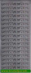 Starform sticker zilver Happy New Year 365 (Locatie: S127)