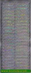 Starform sticker zilver herzlichen glückwunsch 431 (Locatie: L105 )