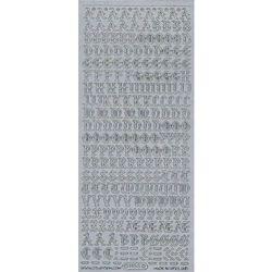 Starform sticker zilver letters 1155 (Locatie: E255 )