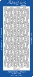 Starform sticker zilver randje 1262 (Locatie: A253)