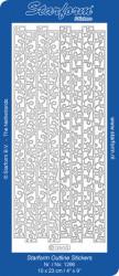 Starform sticker zilver randje 1266 (Locatie: L203)