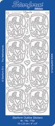 Starform stickervel huwelijk zilver 1192 (Locatie: U293 )