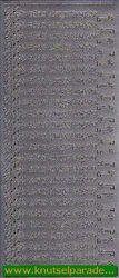 Starform stickervel zilver Wir sind umgezogen 418 (Locatie: T014)
