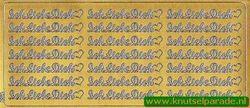 Sticker goud Ich liebe dich 3605 (Locatie: N074 )