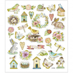 Stickers, vel 15x16,5 cm, pasen, 29066 (Locatie: 0524)