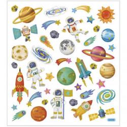 Stickers, vel 15x16,5 cm, ruimte, 29078 (Locatie: 0401)