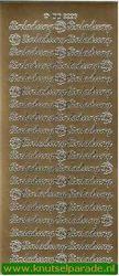 Stickervel goud Einladung nr. DD3226 (Locatie: B051 )