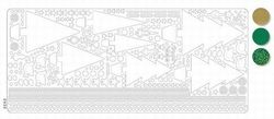 Stickervel kerstboom holografisch d.groen 20380/043503 (Locatie: Q117 )