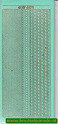 Stickervel randje mintgroen/goud nr. XP 6571 (Locatie: M04 )