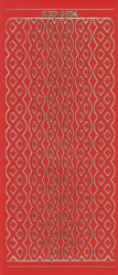Stickervel rood/goud XP6904 (Locatie: K103)