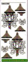 Stickervel transparant goud kerst MD 35 70 82 (Locatie: ZZ002 )