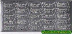 Stickervel zilver frans (Locatie: Q59 )