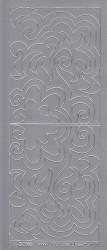 Stickervel zilver hoekjes 3065 (Locatie: D45 )