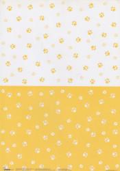 Studio Light decoratiepapier hondenpootjes BASISANIMALS15 (Locatie: 1428)